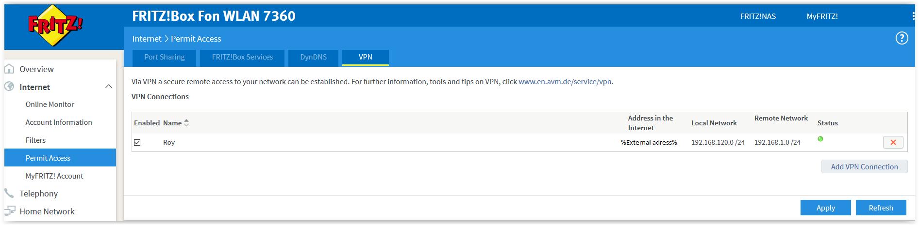 Site to Site VPN Juniper SRX to Fritz!Box - Ebsa